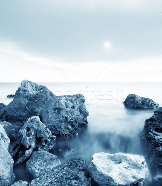 Zee hemel licht schoonheid oranje oceaan Stockfoto © tycoon