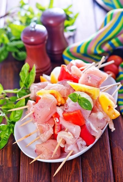 Quibe legumes prato comida vermelho Foto stock © tycoon
