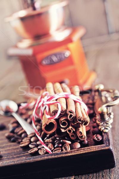 Сток-фото: кофе · аромат · Spice · кофе · таблице · продовольствие