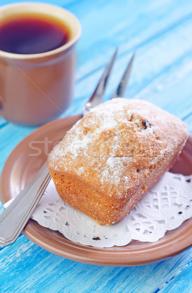 Zoete cake voedsel achtergrond brood Stockfoto © tycoon