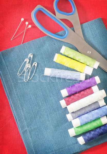 thread and scissors Stock photo © tycoon