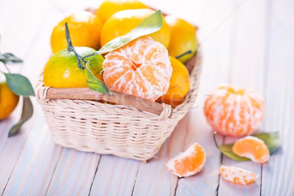 Kosár asztal tavasz levél gyümölcs kert Stock fotó © tycoon