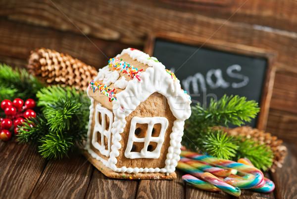 имбирь Cookies Рождества таблице дома дерево Сток-фото © tycoon