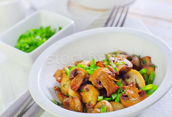 Sült gombák buli tányér csésze barbecue Stock fotó © tycoon