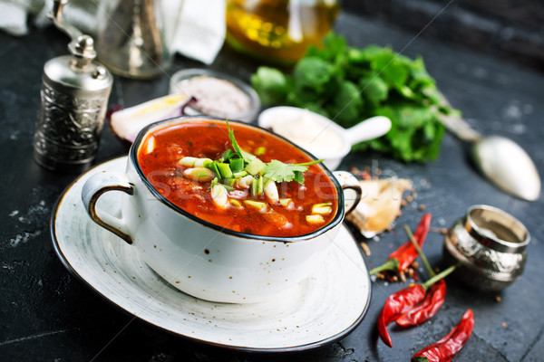 Traditional Ukrainian Russian borscht  Stock photo © tycoon