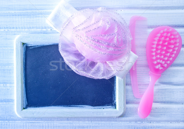 Bebek fırçalamak tarak kırmızı banyo hayat Stok fotoğraf © tycoon