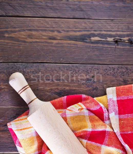 wooden rolling pin Stock photo © tycoon