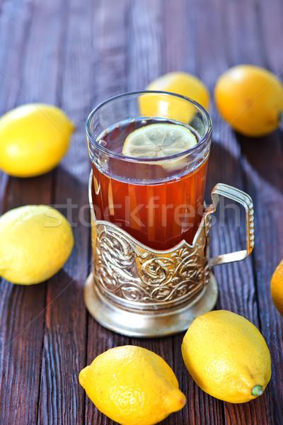 Taze çay limon fincan tablo doğa Stok fotoğraf © tycoon