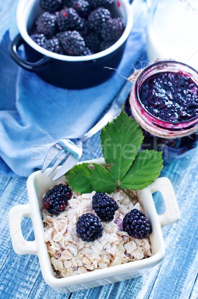 Reggeli gyümölcs üveg tej búza fehér Stock fotó © tycoon