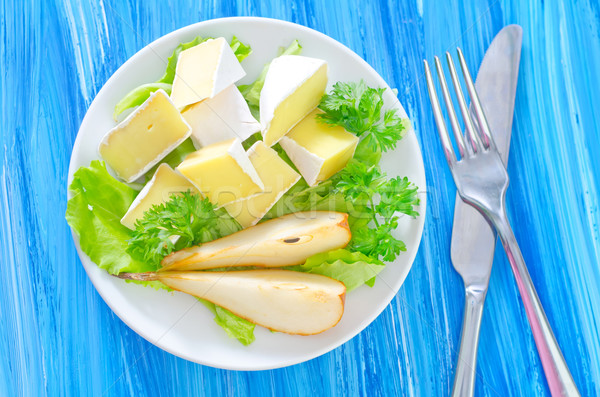 Camembert verde queso blanco bordo almuerzo Foto stock © tycoon