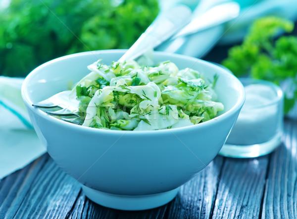 Zdjęcia stock: Sałatka · kapusta · salaterki · tabeli · żywności · kuchnia
