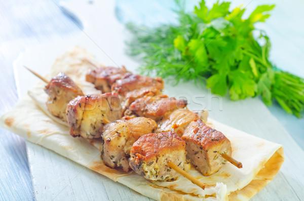 kebab on lavash Stock photo © tycoon