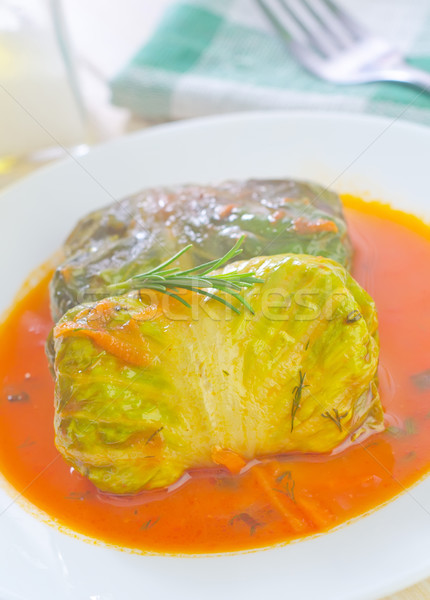 Levél zöld vacsora hús eszik paradicsom Stock fotó © tycoon
