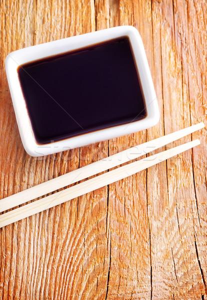 Sojasaus fles chinese koken japans kok Stockfoto © tycoon