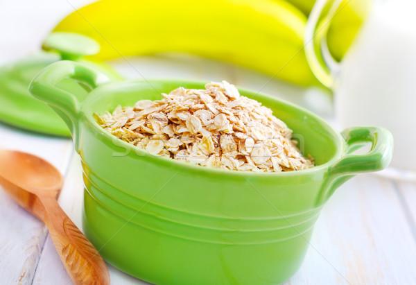 Avoine vert bol banane lait Photo stock © tycoon