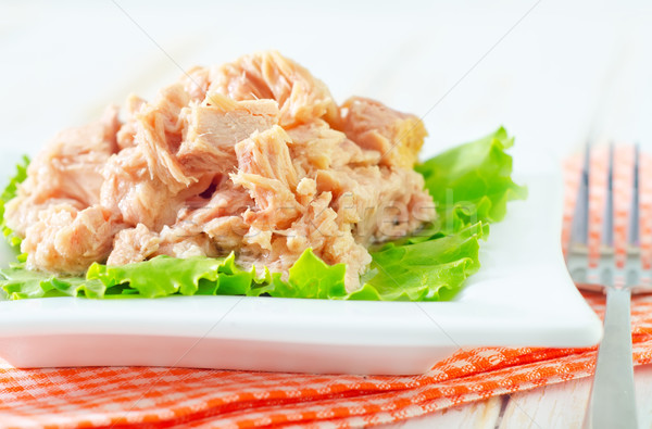 salad from tuna Stock photo © tycoon
