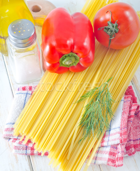 спагетти продовольствие кухне ресторан таблице очки Сток-фото © tycoon