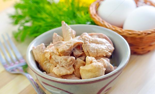 Karaciğer gıda balık yumurta Metal yağ Stok fotoğraf © tycoon
