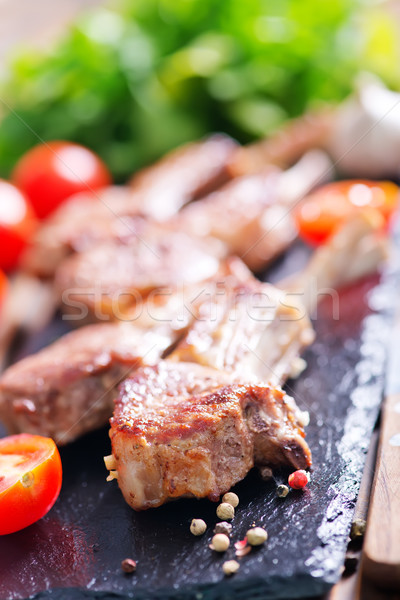 Pirzola et baharat tablo gıda Stok fotoğraf © tycoon