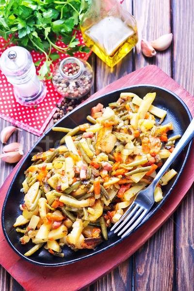 fried vegetables with meat  Stock photo © tycoon