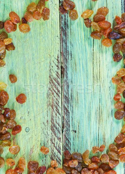 Mazsola szőlő asztal édes textúra háttér Stock fotó © tycoon