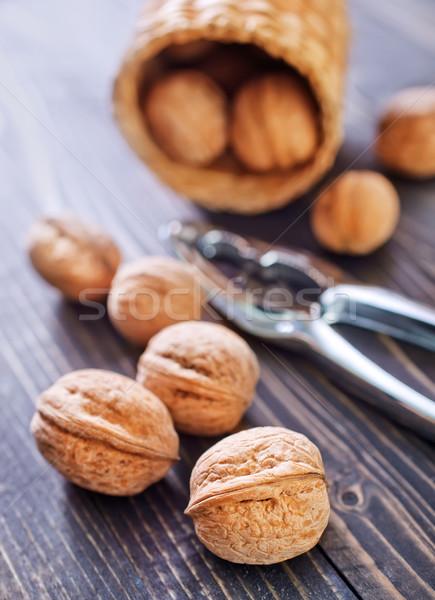 Stockfoto: Voedsel · hout · blad · vruchten · ruimte · groep