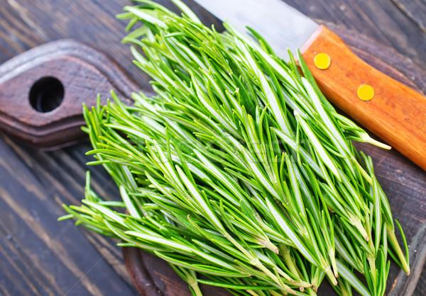 Romero alimentos hoja jardín blanco cocina Foto stock © tycoon