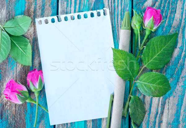 rose and note Stock photo © tycoon