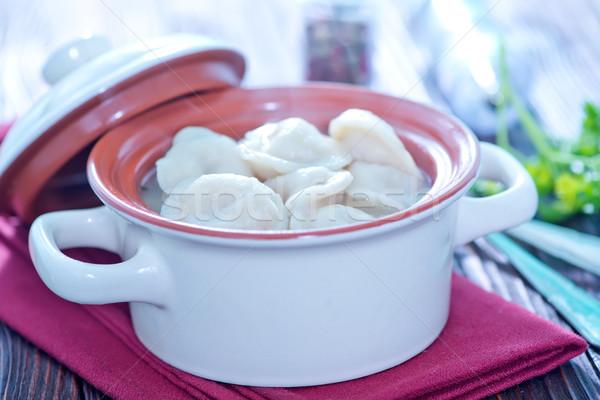 boiled pelmeni Stock photo © tycoon