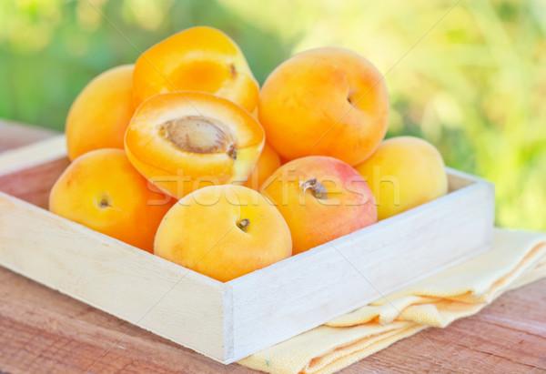 Albicocca alimentare natura foglia frutta estate Foto d'archivio © tycoon