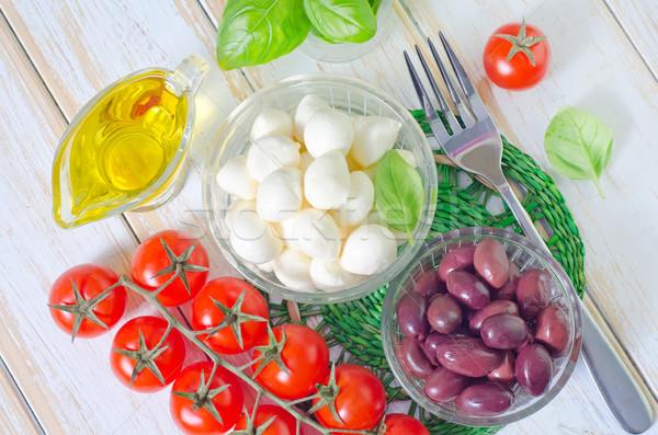 Ингредиенты Капрезе продовольствие обеда красный Салат Сток-фото © tycoon
