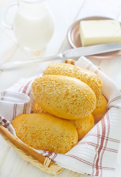 завтрак хлеб жизни ножом жира еды Сток-фото © tycoon