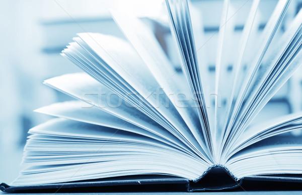 Open boek business kantoor boek achtergrond wetenschap Stockfoto © tycoon