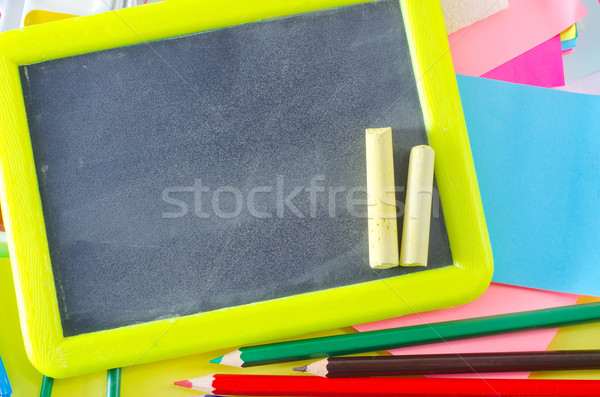 Fournitures scolaires texture classe couleur classe blanche Photo stock © tycoon