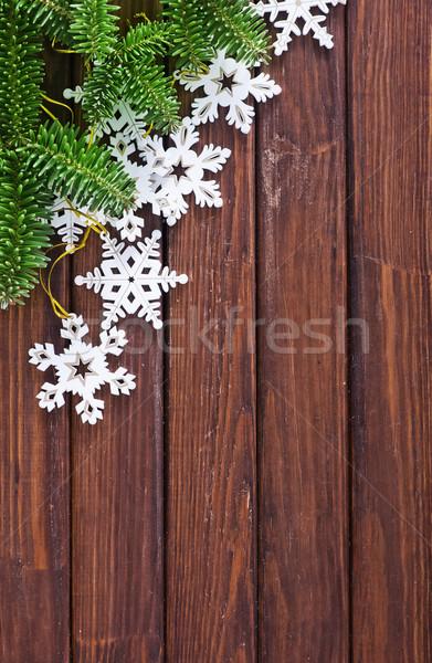 Stok fotoğraf: Noel · dekorasyon · ahşap · masa · ahşap · dizayn · arka · plan