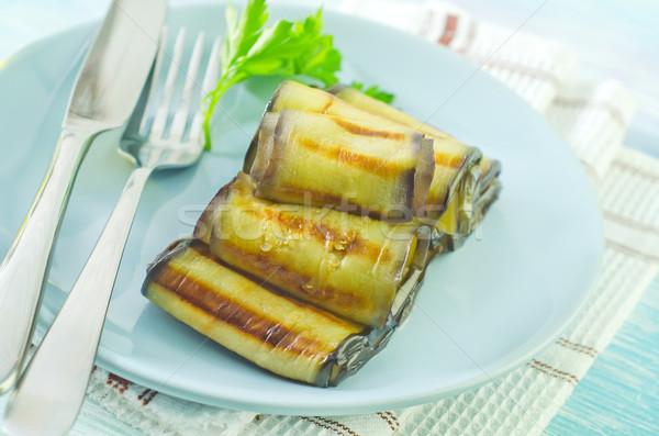 Berenjena hoja almuerzo tuerca comida Foto stock © tycoon