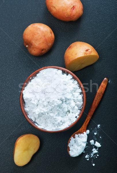 картофеля крахмал чаши таблице кухне белый Сток-фото © tycoon
