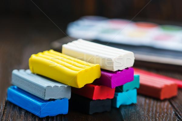 Colore tavola scuola costruzione bambino piatto Foto d'archivio © tycoon