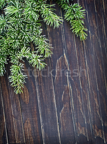 Háttér fa keret asztal zöld fehér Stock fotó © tycoon