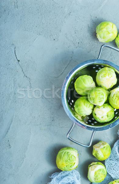 Stockfoto: Ruw · tabel · vers · achtergrond · metaal · groene