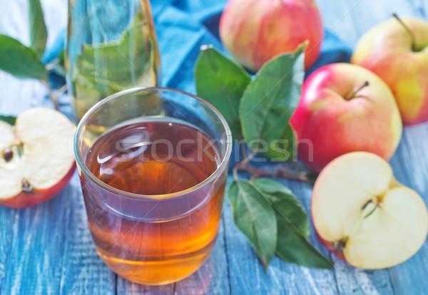 Zumo de manzana frutas mesa beber oro color Foto stock © tycoon