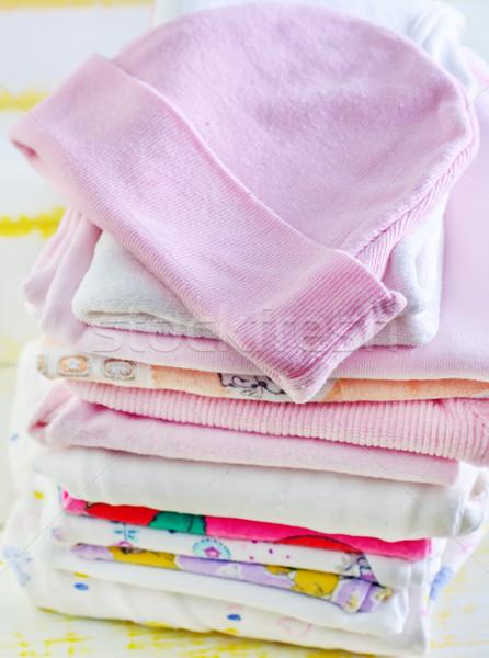 Baby kleding mode kind ontwerp kid Stockfoto © tycoon