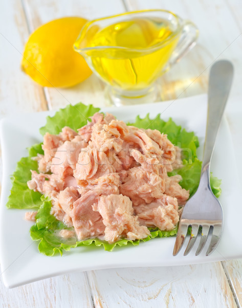 Ensalada ensalada de atún alimentos verde grasa cocinar Foto stock © tycoon