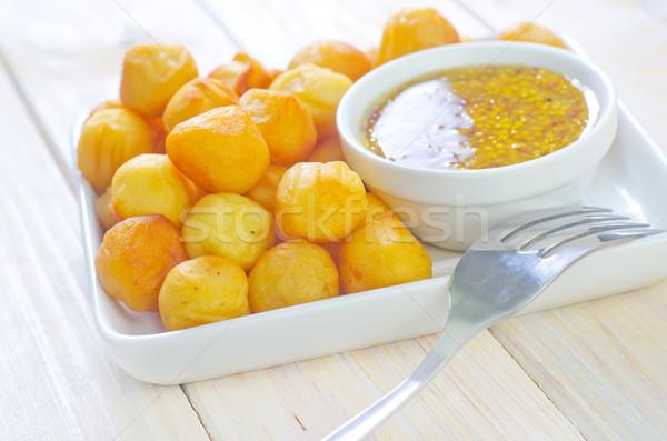 Krumpli golyók sajt vacsora ebéd gyors Stock fotó © tycoon