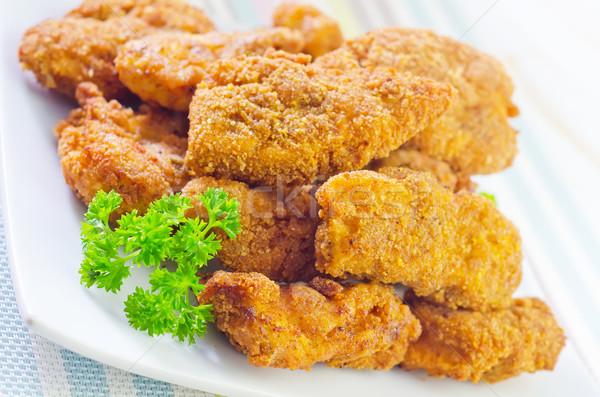 Stok fotoğraf: Plaka · et · hızlı · yemek · yemek · makro