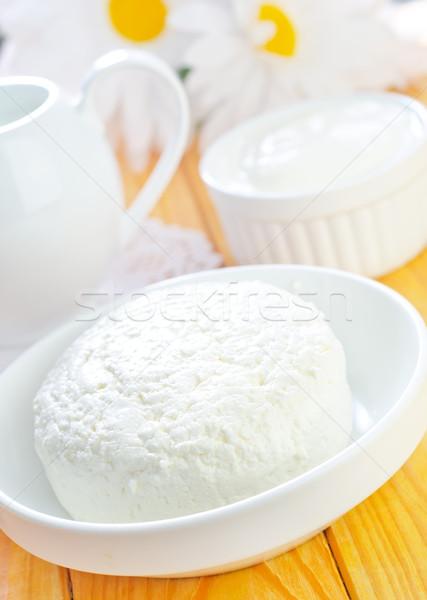 Cottage cucina bere farm formaggio piatto Foto d'archivio © tycoon