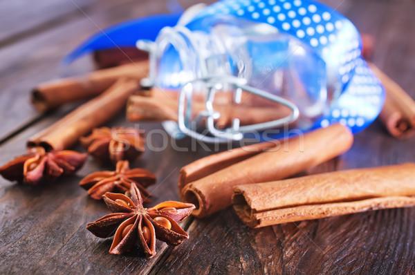 Lezzet baharat tablo anason tarçın doku Stok fotoğraf © tycoon