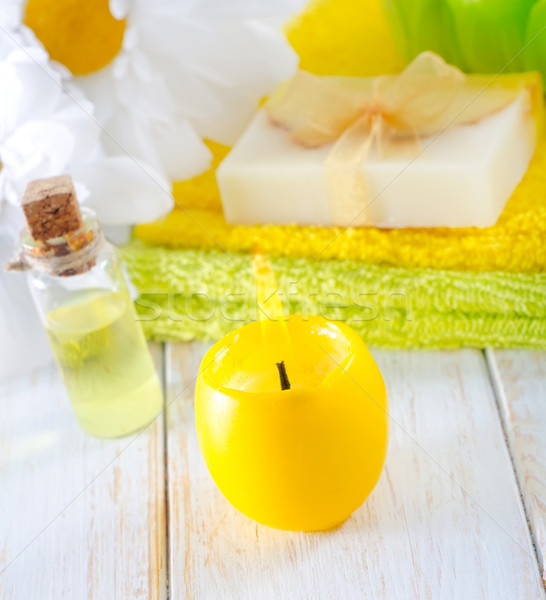 candle and aroma oil Stock photo © tycoon