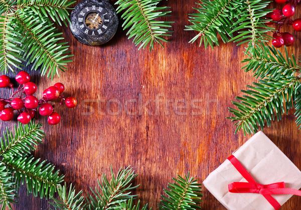 Noel dekorasyon tablo arka plan karanlık duvar kağıdı Stok fotoğraf © tycoon
