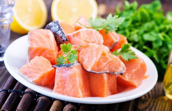 Rouge saumon fraîches persil épices fond Photo stock © tycoon